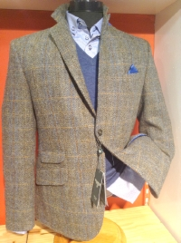 Harris Tweed Wellington of Bilmore, Bruin/beige tinten